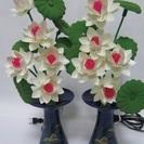 【ミニロータス】花◆点灯◆仏具◆5灯◆造花◆仏花◆2個1対