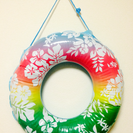 お花柄の浮き輪(サイズ75cm)