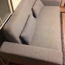 【値下げ!】2.5人掛けグレーソファー - 家具