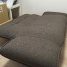 三人掛け布製リクライニングソファー こげ茶  ★美品 − 兵庫県