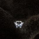 【未使用】ANNA SUIの蝶々のシルバーリング