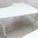 [終了]IKEAの白のシンプルデスク(テーブル)LINNMON /...