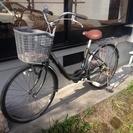 【取引終了】中古自転車①オリーブグリーン(ボディ)×ブラウン(サ...