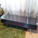 【交渉中】【再出品】リビング ガラス ローテーブル