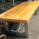 木製&ステンレステーブル【大】