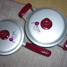 三協アルミの片手鍋と両手鍋♪2点セット♪保管品♪昭和レトロ ♪