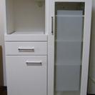 ★極美品★ レンジ台 炊飯器収納 食器棚 80cm ニトリ製品?