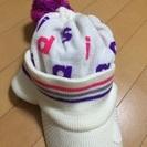 交渉可。adidasレディース ニット 帽子 値下げしました☆