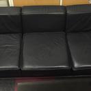 3人掛けソファ 黒 リプロダクト品