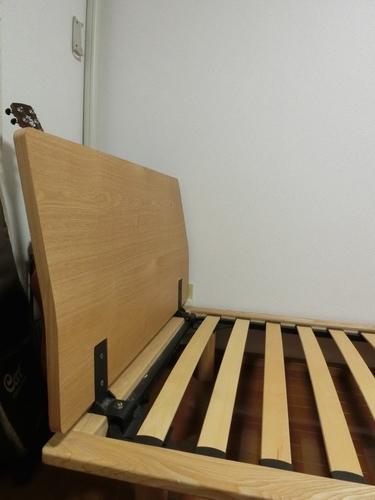 【無印良品】シングルベッドフレーム+ヘッドボード - 京田辺市