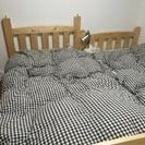 パイン材すのこ二段ベッド