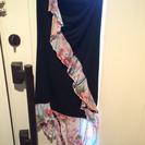 和柄のベアトップドレス M〜Lサイズ 中古