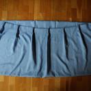 半遮光カーテン(水色、レースカーテン付)