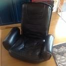 座椅子 合皮 黒