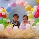 バルーンアートと赤ちゃん記念撮影会