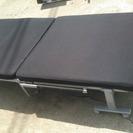 折り畳みベッド リクライニング ブラック