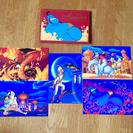 ディズニー アラジン ポストカード5枚セット