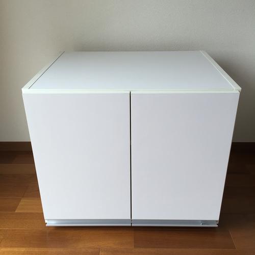 冷蔵庫上置き戸棚 収納 ストッカー チェスト ホワイトの画像