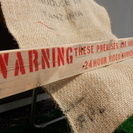 ステンシル サインボード! 警告!!24時間監視中!  【流木材】
