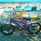 16インチ 子供用自転車 ハマー 青・黄色 補助輪もあります。
