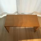 中古 無印良品 コの字の家具・積層合板・タモ材の画像