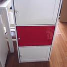 扉付きカラーボックス 三段