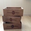 ★大人気★ WECK 木箱 小サイズ3個セット 収納 ガーデニン...