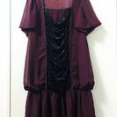 【値下げ】*美品* 紫のシフォンドレスワンピース