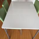 ダイニングセット(バタフライ伸縮テーブル&椅子3脚)