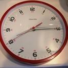 掛け時計 赤