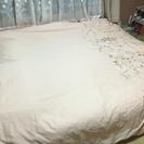 3ヶ月使用未満クイーンサイズ分割式マットレスベッド