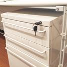 【無印良品】デスク(システムタイプ)+ スチールキャビネット付き - 家具