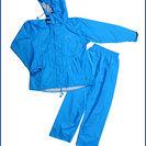 【新品】すぐ乾く特殊加工!レインスーツ Mサイズ 防水・透湿 収...