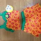100cm 女の子 セパレート水着(新品)