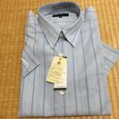 新品 未使用 メンズ 半袖 ワイシャツ ストライプ 綿100%