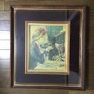 交渉中:ルノアールの複製絵画(額付き)