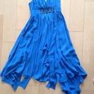 【値下げ】スレンダー  青  ドレス ワンピース 9号