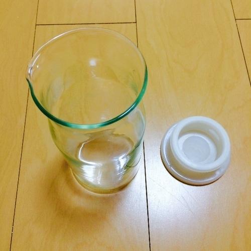 無印良品・耐熱ガラスピッチャー小0.7L - 生活雑貨