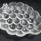【葡萄型】大皿★ガラス皿★盛り皿★約29.5cm★ぶどう