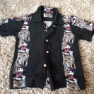 お祭りで着用^ ^ mickey アロハシャツ 黒 サイズ110
