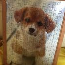 仔犬のパズル飾り