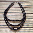 黒 パール 三連ネックレスの画像