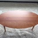 チェリー材のローテーブル  オーバル型