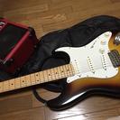 エレキギターとアンプのセット
