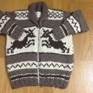 カナダで購入したカウチンとセーターです 男女兼用 値下げ