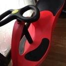 【引取限定】ハンドルで進むバイク、プラズマカー赤
