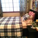 IKEA イケア セミダブル 収納付きベッド & ベッドサイド収納...