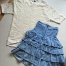 【セット販売】トップス×ハイウエストスカート