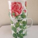 【未使用】TAITU鮮やかバラのペアカップ