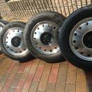 タイヤ付きアルミホイール軽トラ155/65R14 155/80R1...